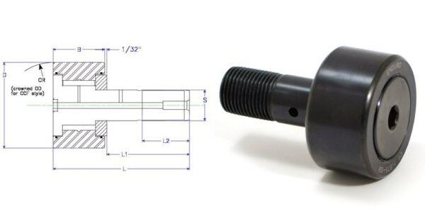 ENDURO CF6SB cam follower roller bearing Mcgill RBC S192  torrington CR96 CR6XB