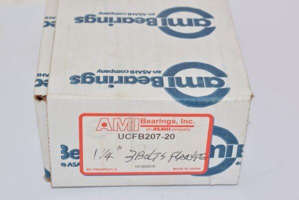 NEW 1.2500 AMI Bearings UCFB207-20 Flange-Mount Ball Bearing Unit