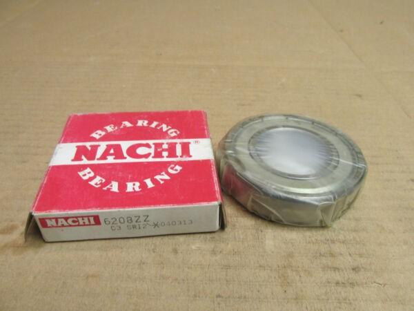 NIB NACHI 6208ZZ BEARING METAL SHIELD BOTH SIDES 6208 ZZ 40x80x18 mm NEW