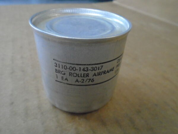 1 EA NOS REXNORD AIRFRAME ROLLER BEARING  P/N: A-4  -PRESERVED IN SEALED CAN