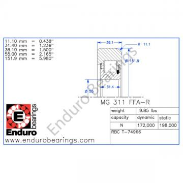Mast Guide Bearing ENDURO MG311FFA-R forklift roller RBC T-74966  Ships Fast!!