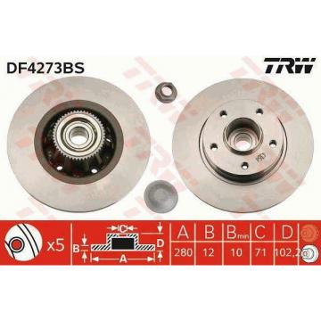 BRAKE DISC WITH BEARING TRW AUTOMOTIVE DF4273BS