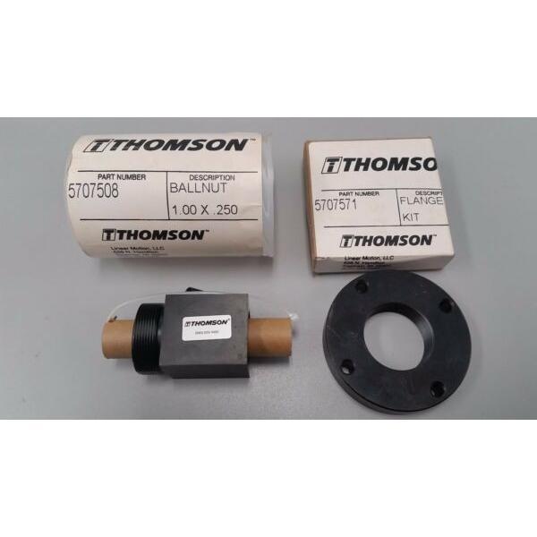 5707508 Thomson Linear Motion Ballnut Linear Bearing PLUS 5707571 FLANGE KIT #1 image
