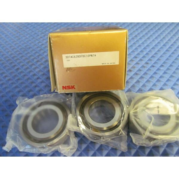 NOS NSK 30TAC62BDFDC10PN7A Buy it Now = 3 Bearings Free Shipping #1 image